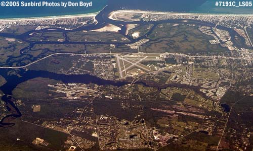 2005 - Ponce de Leon Inlet and New Smyrna Beach Municipal Airport aerial stock photo #7191C