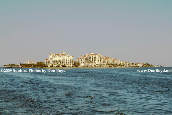 2009 - Fisher Island as viewed from the southwest - Government Cut on the left (#1644)