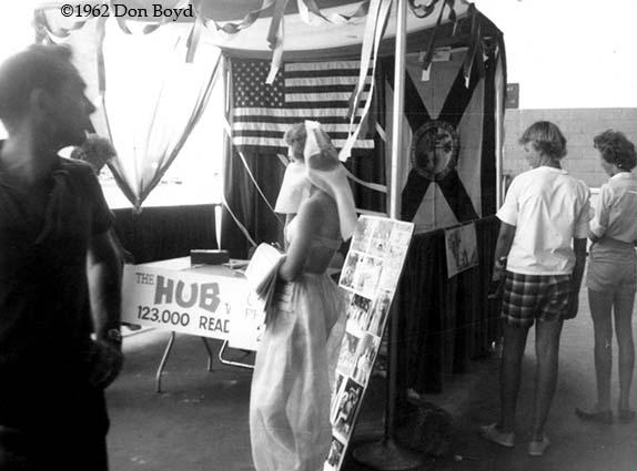 1962 - an Arabian Nights lady at the Opa-locka Air Show