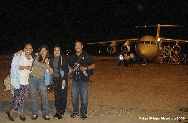 Maiden flight to Palau