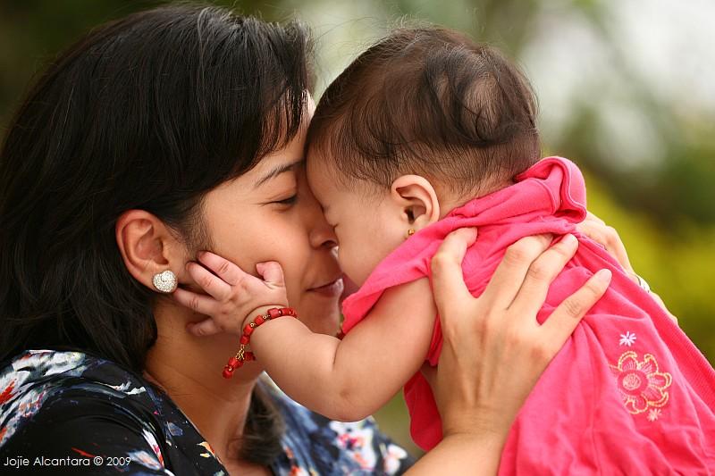 Vanessa and Baby Cael