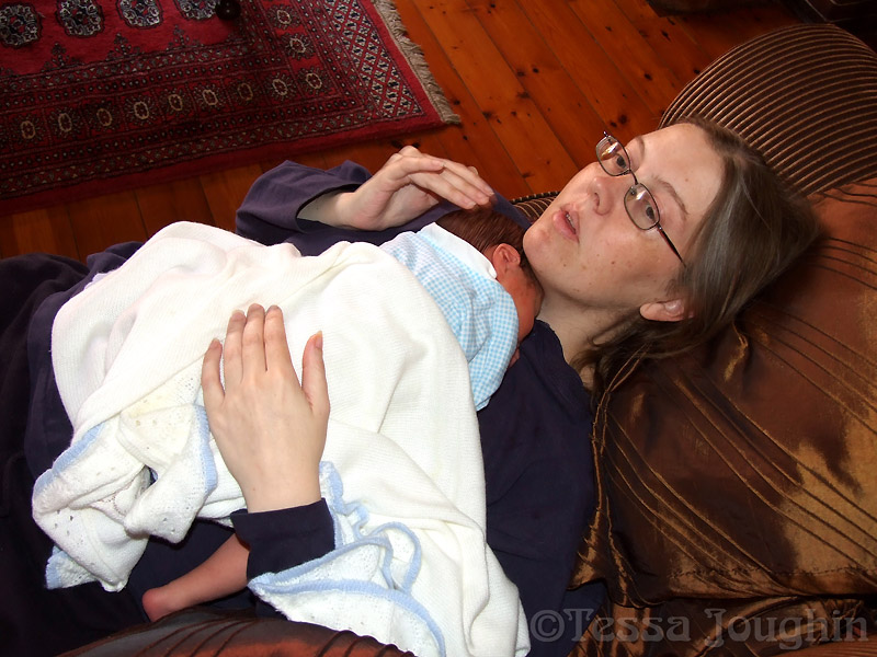 Enjoying baby James but feeling a little sick