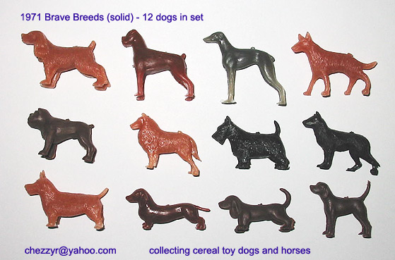 The Brave Breeds (cereal toy dogs) 1971
