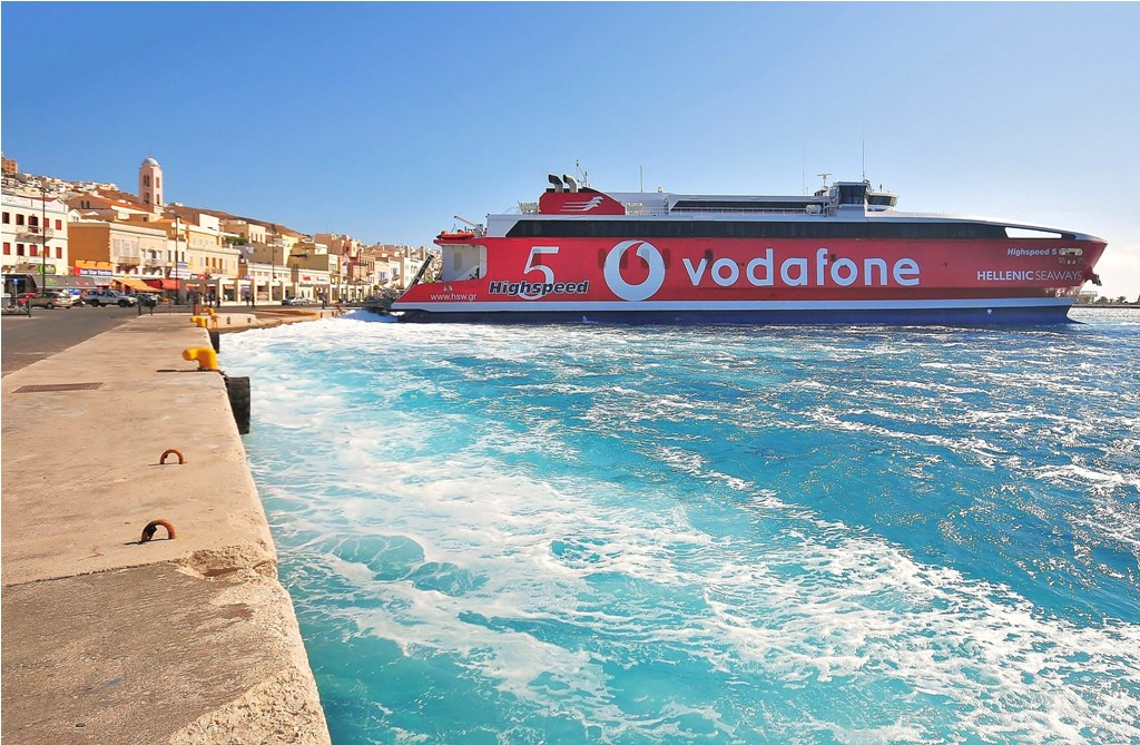 Arriving at Syros