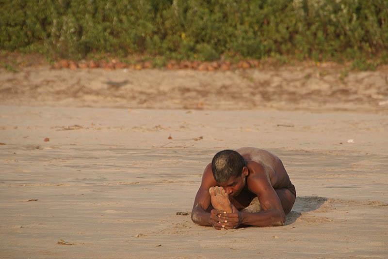 Indian Man Doing Yoga On Beach Photo Serena Bowles Photos At Pbase Com