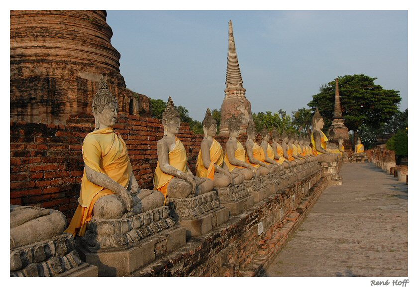 Alignement Bouddha Ayuthaya