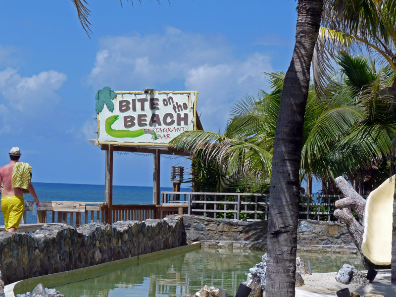The infamous Bite on the Beach restaurant