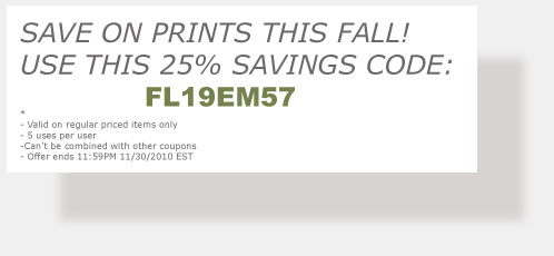 Save 25% on prints this Fall! Offer ends 11/30/2010. Street Photography of Miami, San Francisco and Key West. Buy prints and save!