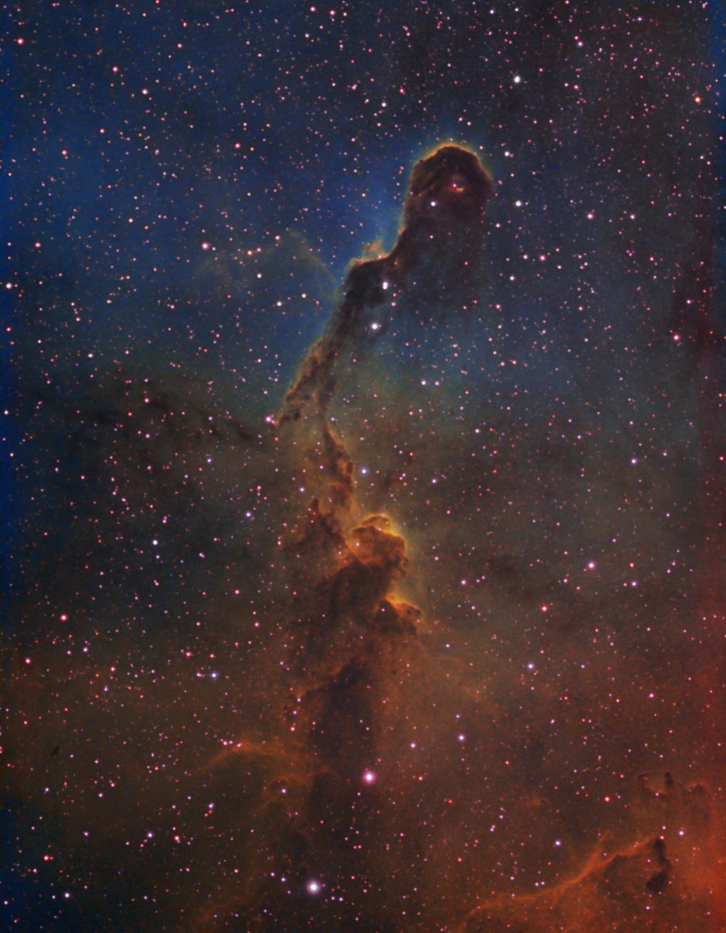 IC1396 - Elephants Trunk Nebula in HST palette