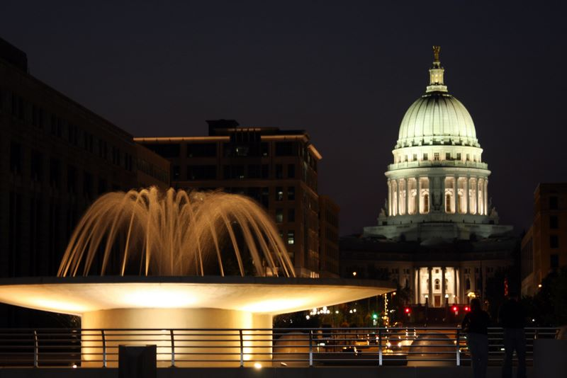 The Capitol shines even brighter at night, Madison