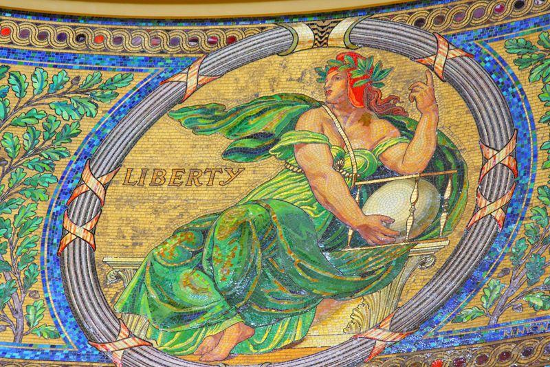 Glass mosaic by Kenyan Cox - Liberty
