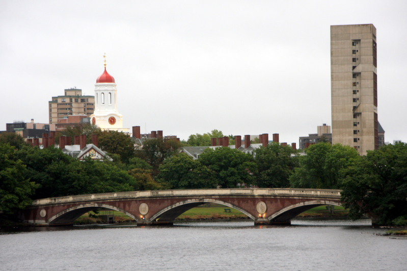 Harvard across Charles River, Boston