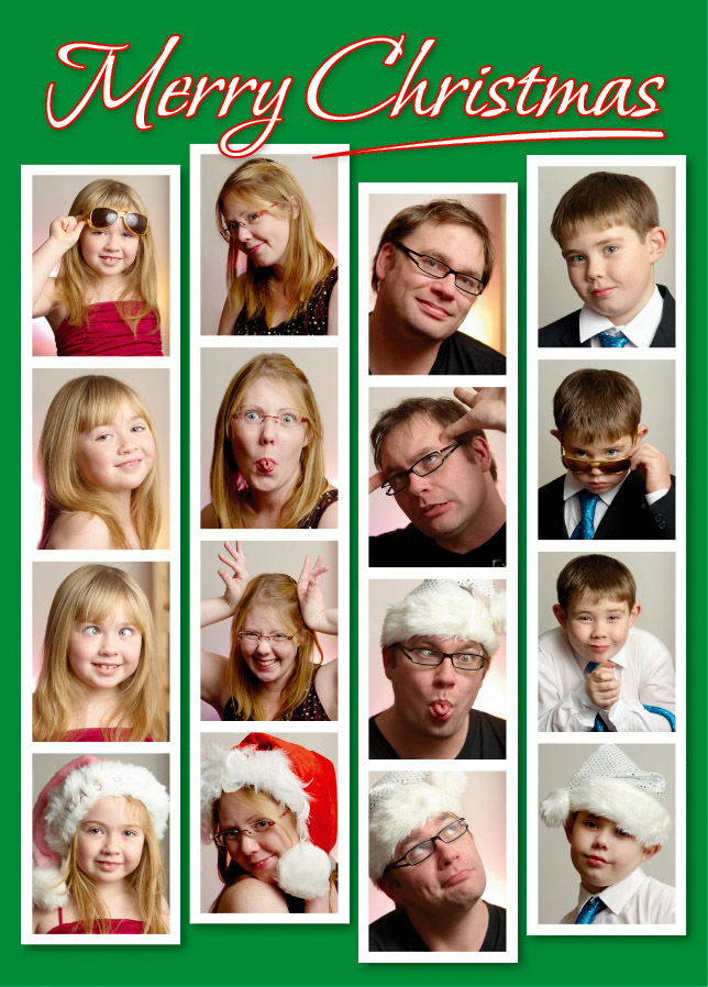 Fun custom Christmas cards. Photography by Robert Whetton, Dorset Photographer
