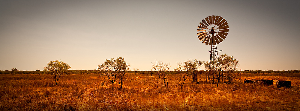 Outback Windmill Panorama