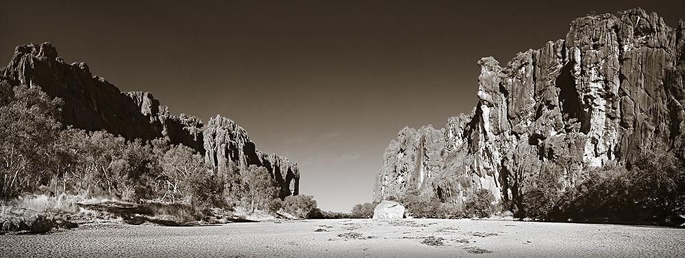 Walls of Windjana Gorge Duotone Panorama
