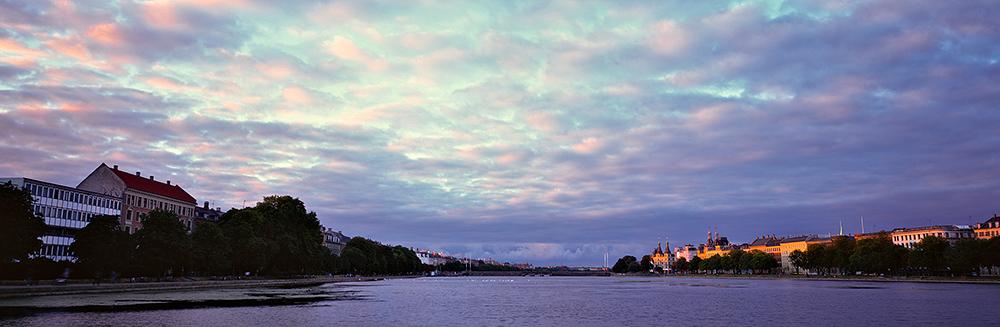 Søtorvet Sunset in Velvia 617