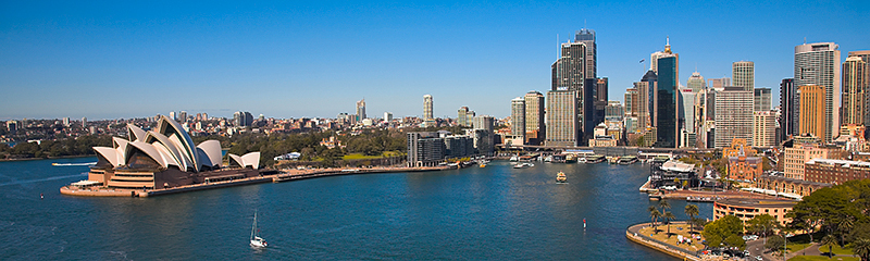 Sydney Opera House & Circular Quay panorama