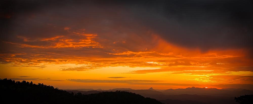 Lamington National Park Sunset Panorama