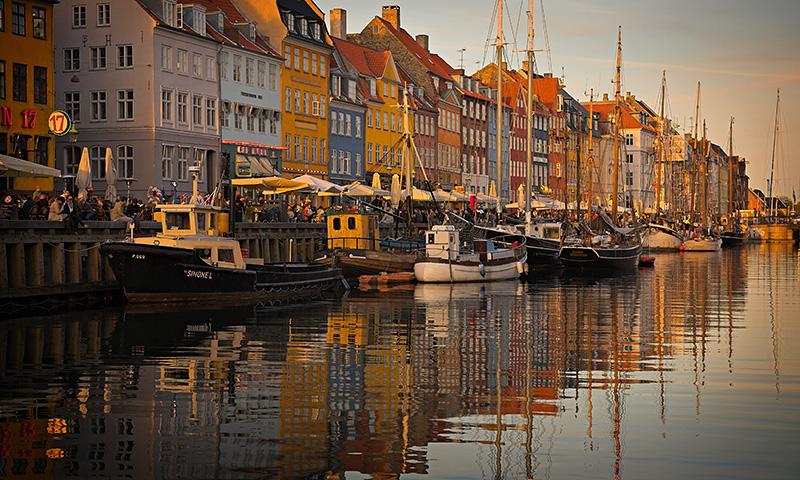 Nyhavn Canal Spring Sunset