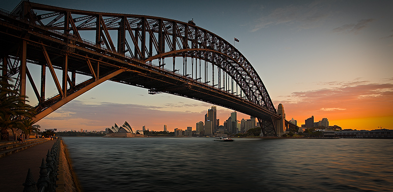 Sydney Harbour Bridge Sunset Panorama