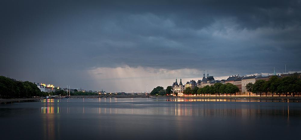 Summer Storm in Copenhagen Panorama