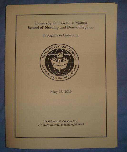 Graduation School of Nursing Recognition Ceremony May 13, 2010