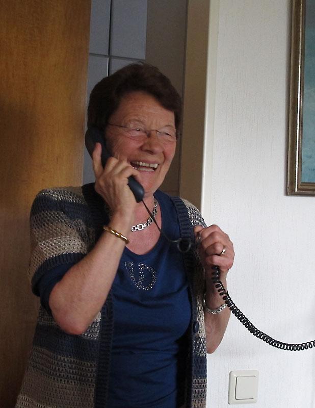 Another congratulatory phone call