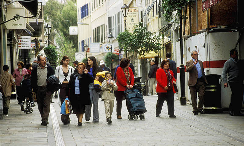 Evening promenade in Main Street, Gibraltar
