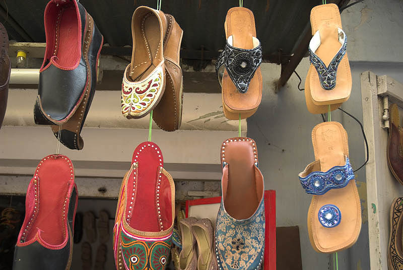 Shoes on display, Udaipur