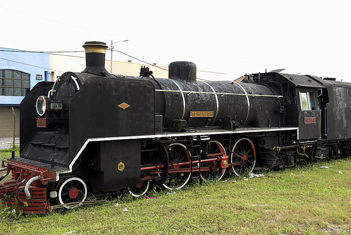 Old locomotive at the junction town of Gemas