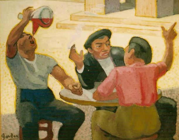 Spanish drinkers by Jan Gordon