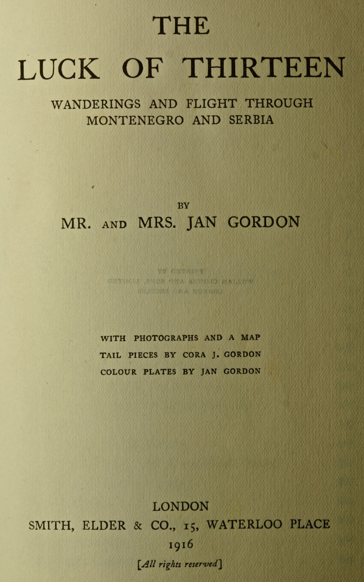 Published in 1916, a great story and my favourite of the Gordons books.