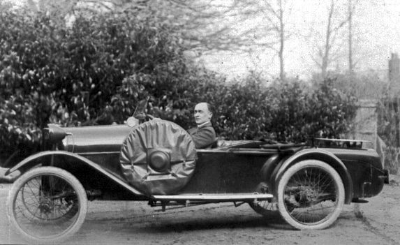 Ashleys car, 15th April 1922. In 1916 he drove a two seater open Peugeot Baby.