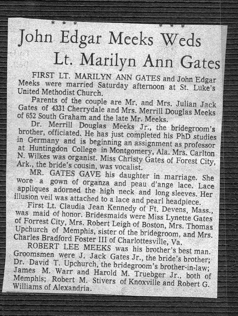 John  Marilyn Meeks wedding