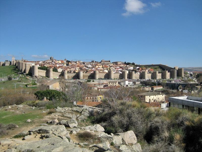 Avila. Vista desde el Mirador de los Cuatro Postes