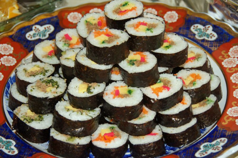 Tower of sushi