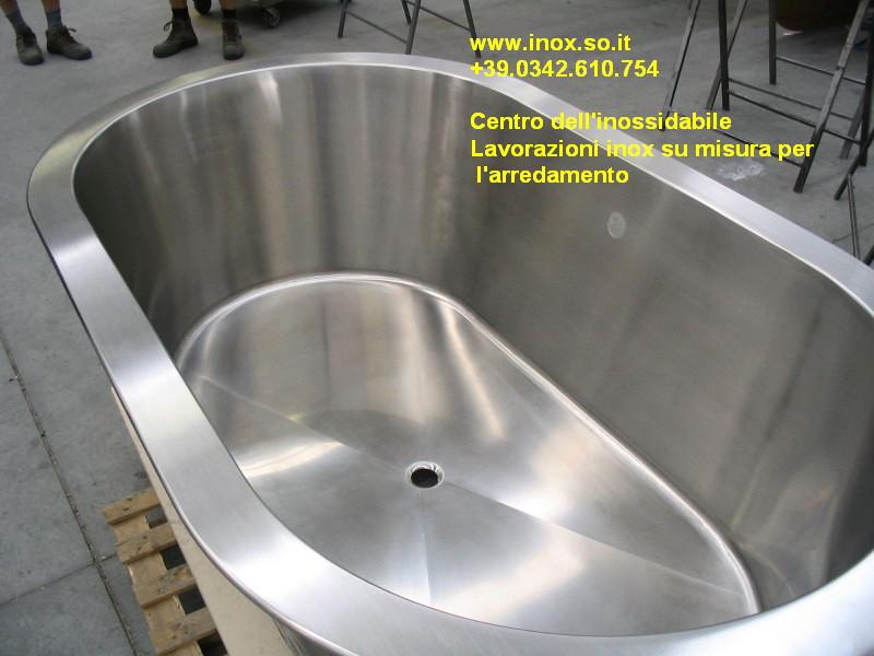 Vasca Da Bagno Artigianale : Vasca da bagno in acciaio inox costruita su misura su disegno del