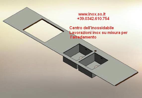 Top piani cucina in acciaio inox disegnati su misura photo - Flavio ...