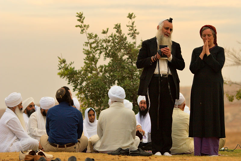 Jews and Sikhs - Tekoa, West Bank