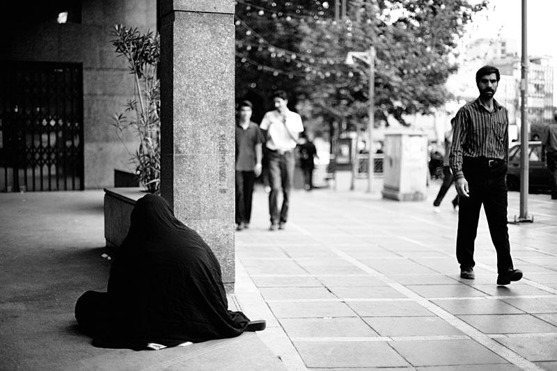 Beggar in chador - Tehran