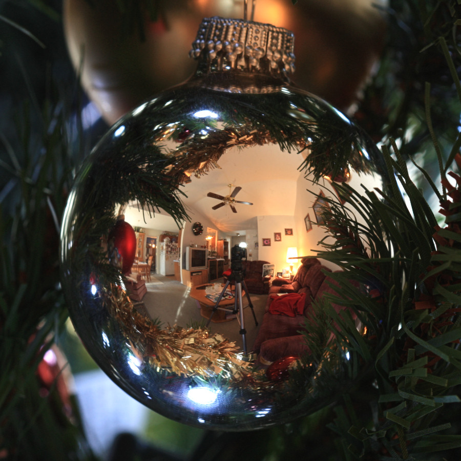 Christmas Ball Reflection<BR>December 9, 2008