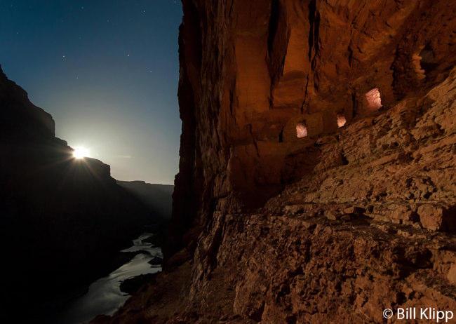 Moon rise at Nankoweaps ancient Puebloan granaries  3