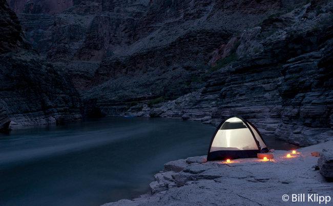 Camping at Upper Ledges camp, Colorado River 1
