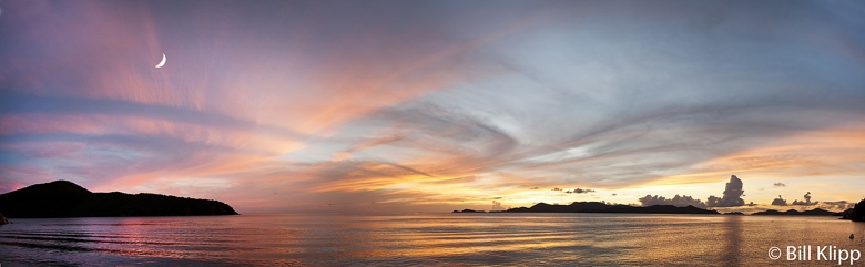 Sunset Pano from Cooper Island   1