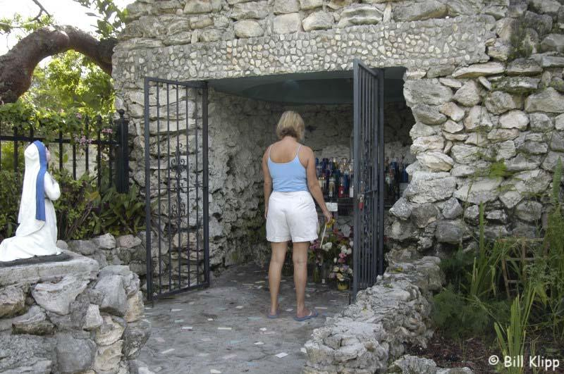 The Grotto, praying for Hurricane relief