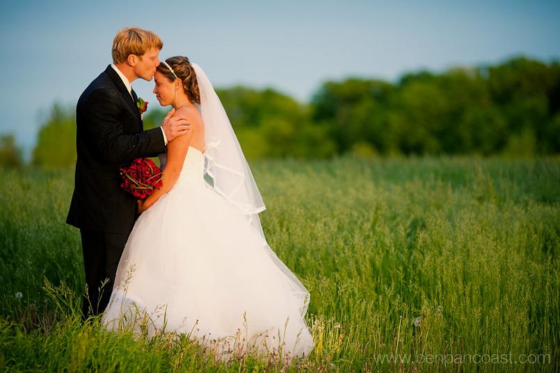 Wedding photos on a farm in Southwest Michigan