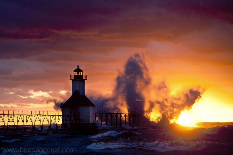 The Lighthouse At Sunset