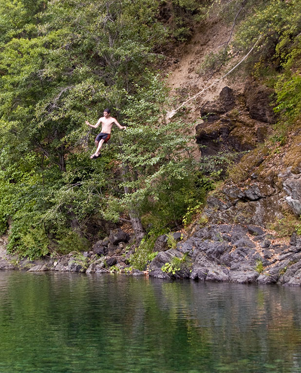 <B>Rope Swing</B> <BR><FONT SIZE=2>Near Helena, CA, August, 2007</FONT>