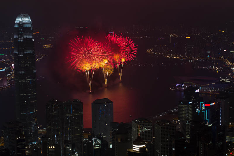 Fireworks over Victoria Bay