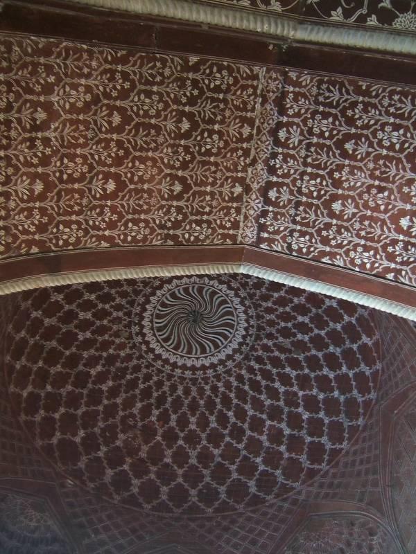 Ceiling in Mosque, Taj Mahal